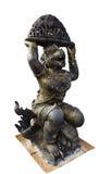 Monkey Statue. Photo of Monkey Statue in Sitting Posture Stock Image