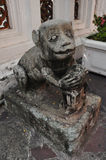 Monkey statue in Chinese style at Wat Pho ,the Temple of the Rec Stock Photography