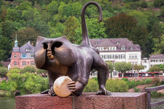 Monkey statue Stock Images