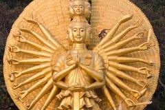 Monkey on the statue of Shiva Stock Photography