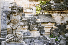 The Monkey Statue. Sitting at the front of a Balinese temple in Bali, Indonesia Stock Photography