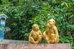 Monkey statues Royalty Free Stock Photography