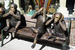 Monkey Statues San Francisco Royalty Free Stock Images