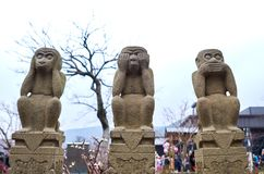 Monkey statues in Wuxi stock photos