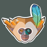 Monkey Stickers and Monkey Sticker Designs Stock Image