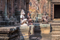 Monkey stone, Cambodia Stock Photography