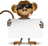 Monkey with sunglasses Stock Image