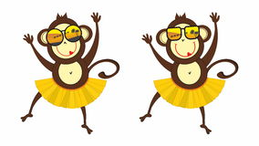Monkey in sunglasses Royalty Free Stock Photo