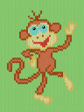 Monkey a symbol of Eastern New Year in 2016 Royalty Free Stock Image