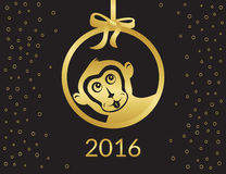 Monkey symbol Royalty Free Stock Photos