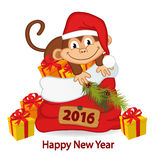 Monkey symbol of 2016 year Royalty Free Stock Photography