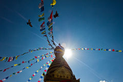 The Monkey Temple of Kathmandu, Nepal Stock Image