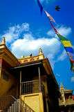 Monkey temple, Nepal with a blue summer sky Julian Royalty Free Stock Photography