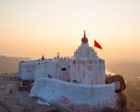 Monkey temple at sunrise hampi india Stock Photos