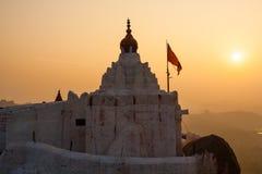 Monkey temple at sunrise hampi india Royalty Free Stock Images