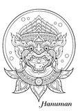 Monkey thai outline illustrator Royalty Free Stock Photo