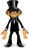Monkey in a top hat Stock Photos