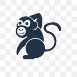 Monkey vector icon isolated on transparent background, Monkey t royalty free illustration