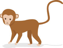 Monkey. Vector illustration of a cute monkey Royalty Free Stock Photography
