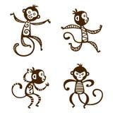 Monkey vector illustration. Stock Photo