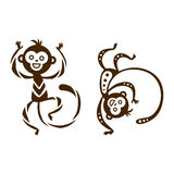 Monkey vector illustration. Stock Photography