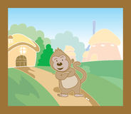 Monkey Village Royalty Free Stock Images
