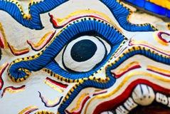 Monkey Warrior face, Wat Phra Kaew, bangkok. Stock Images