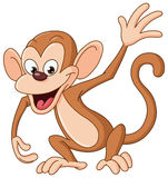 Monkey waving Stock Photography