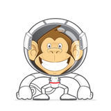 Monkey wearing astronaut costume Royalty Free Stock Photos