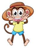 A monkey wearing a hat Stock Photos