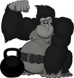 Monkey with weights stock illustration