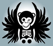 Monkey with wings - illustration Royalty Free Stock Photo