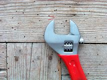 Monkey wrench tool Royalty Free Stock Photo