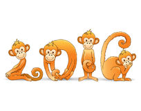 Monkey year 2016. Format Royalty Free Stock Photography
