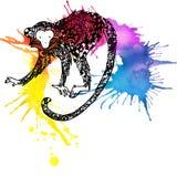 Monkey Year. Monkey graphics. watercolor firework texture illustration. Stock Photography