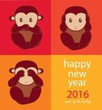 Monkey year Royalty Free Stock Photos