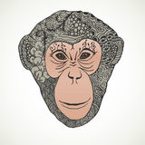 Monkey zentangle New Year 2016. Vector illustration stock illustration