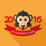 Monkey Zodiac symbol of the new year Stock Image