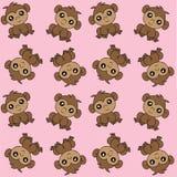 Monkeys alloverprint pink background royalty free stock images