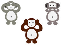 Monkeys cartoon Stock Image