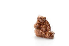 Monkeys Ceramic on white background Stock Photo