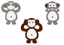 Monkeys desenhos animados Imagem de Stock