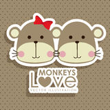 Monkeys design Stock Photos