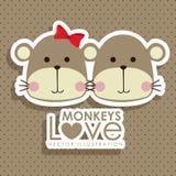 Monkeys design Stock Photos