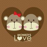 Monkeys design Royalty Free Stock Photo