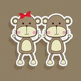 Monkeys design Royalty Free Stock Images