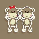 Monkeys design Royalty Free Stock Images