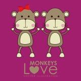 Monkeys design Royalty Free Stock Photography