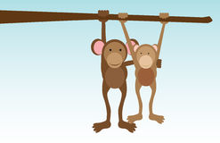 Monkeys in love royalty free illustration