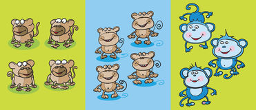 Monkeys o clipart Foto de Stock Royalty Free